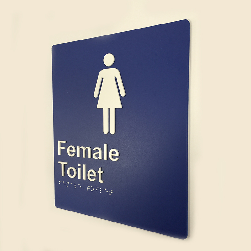 blue-and-white-plastic-female-toilet-sign